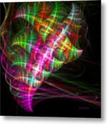Vibrant Energy Swirls Metal Print