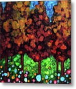 Vibrant Forest Metal Print