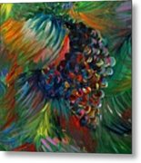 Vibrant Grapes Metal Print by Nadine Rippelmeyer