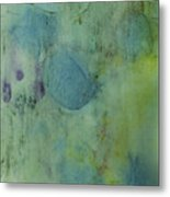 Vibrant Green Abstract Ink Design Metal Print