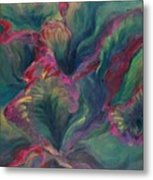 Vibrant Leaves Metal Print