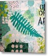 Vibrant Meadow Fern Metal Print