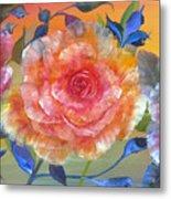 Vibrant Roses Metal Print
