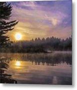 Vibrant Sunrise On The Androscoggin River Metal Print