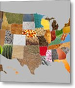 Vibrant Textures Of The United States Metal Print