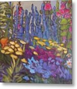 Vic Park Garden Metal Print by Carol Hama Chang
