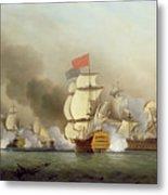 Vice Admiral Sir George Anson's Metal Print by Samuel Scott