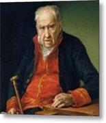 Vicente Portaia Lopez  Felix Maximo Lopez First Organist Of The Royal Chapel 1820 Metal Print
