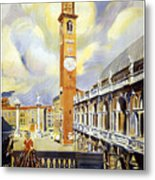 Vicenza Italy Travel Poster Metal Print