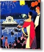 Vichy, Firework At Celebration Night Metal Print