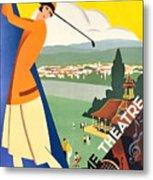 Vichy, Sport Tourism, Woman Play Golf Metal Print