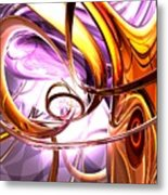 Vicious Web Abstract Metal Print