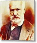 Victor Hugo, Literary Legend Metal Print