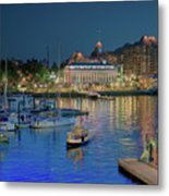 Victoria At Night Metal Print