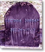 Victoria Eternal Sleep Metal Print