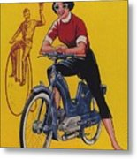 Victoria Vicky Iv - Motorcycle - Vintage Advertising Poster Metal Print