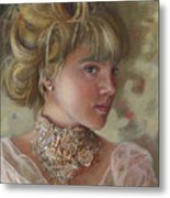 Victorian Beauty Metal Print