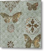 Victorian Deco Sage Metal Print by JQ Licensing