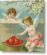 Victorian Era Valentine Card Metal Print