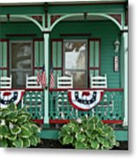 Victorian House And Garden. Metal Print