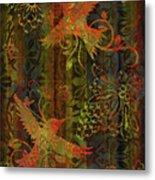 Victorian Humming Bird 3 Metal Print by JQ Licensing