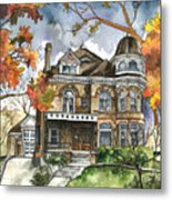 Victorian Mansion Metal Print