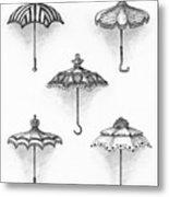 Victorian Parasols Metal Print