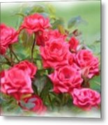 Victorian Rose Garden - Digital Painting Metal Print