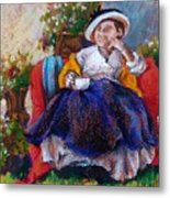 Victorian Tea Time Metal Print