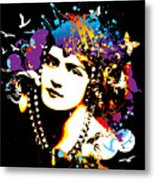 Victorian Temptation - Bespattered Metal Print