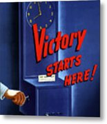 Victory Starts Here Metal Print by War Is Hell Store