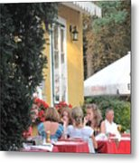 Vienna Restaurant In The Park Metal Print
