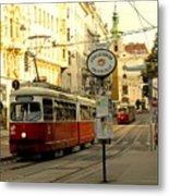 Vienna Streetcar Metal Print