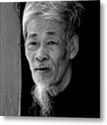 Vietnamese Village Elder Metal Print