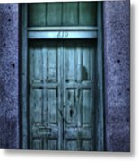 Vieux Carre' Doorway At Night Metal Print