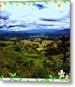 View And Inca/canari Ruins On Cojitambo II Metal Print