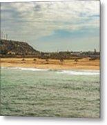 View At La Loberia Beach In Salinas, Ecuador  Metal Print