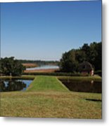 View Down To The Ashley River At Middleton Place Plantation Charleston Metal Print