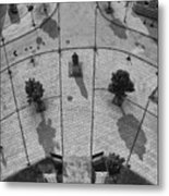 View From A Church Tower Monochrome Metal Print