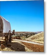 View From A Sheep Herder Wagon Metal Print
