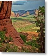 View From A Vortex, Cathedral Rock, Sedona, Arizona Metal Print