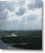 View From Abbey On Mont St. Michel Metal Print