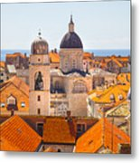 View From Above Of Dubrovnik Metal Print