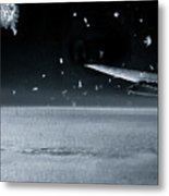 The View From Airplane Bw Metal Print