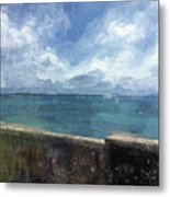 View From Bermuda Naval Fort Metal Print