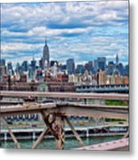 View From Brooklyn Bridge Metal Print