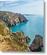 View From Cabo Da Roca, The Western Point Of Europe, Portugal Metal Print