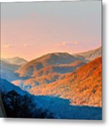 View From Chimney Rock-north Carolina Metal Print