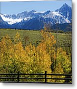 View From Hwy 62, Ouray County, Co Metal Print