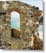View From Doria Castle In Portovenere Italy Metal Print